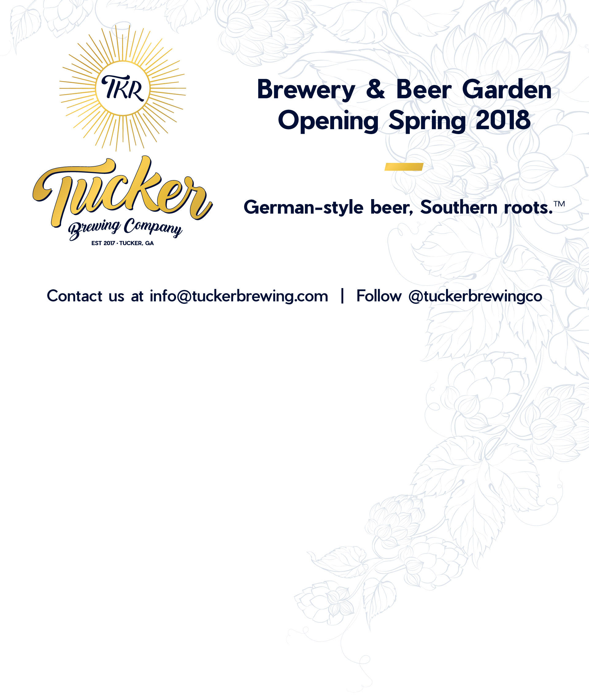 Tucker Brewing Company - Opening Spring 2018