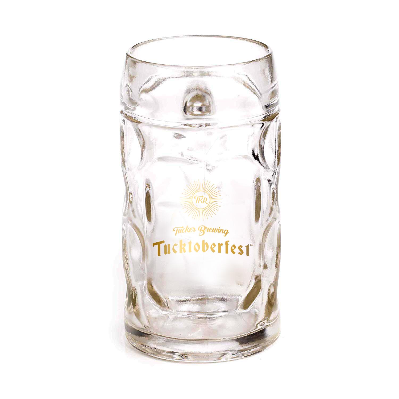 Tucker Brewing Company Liter Stein Glass